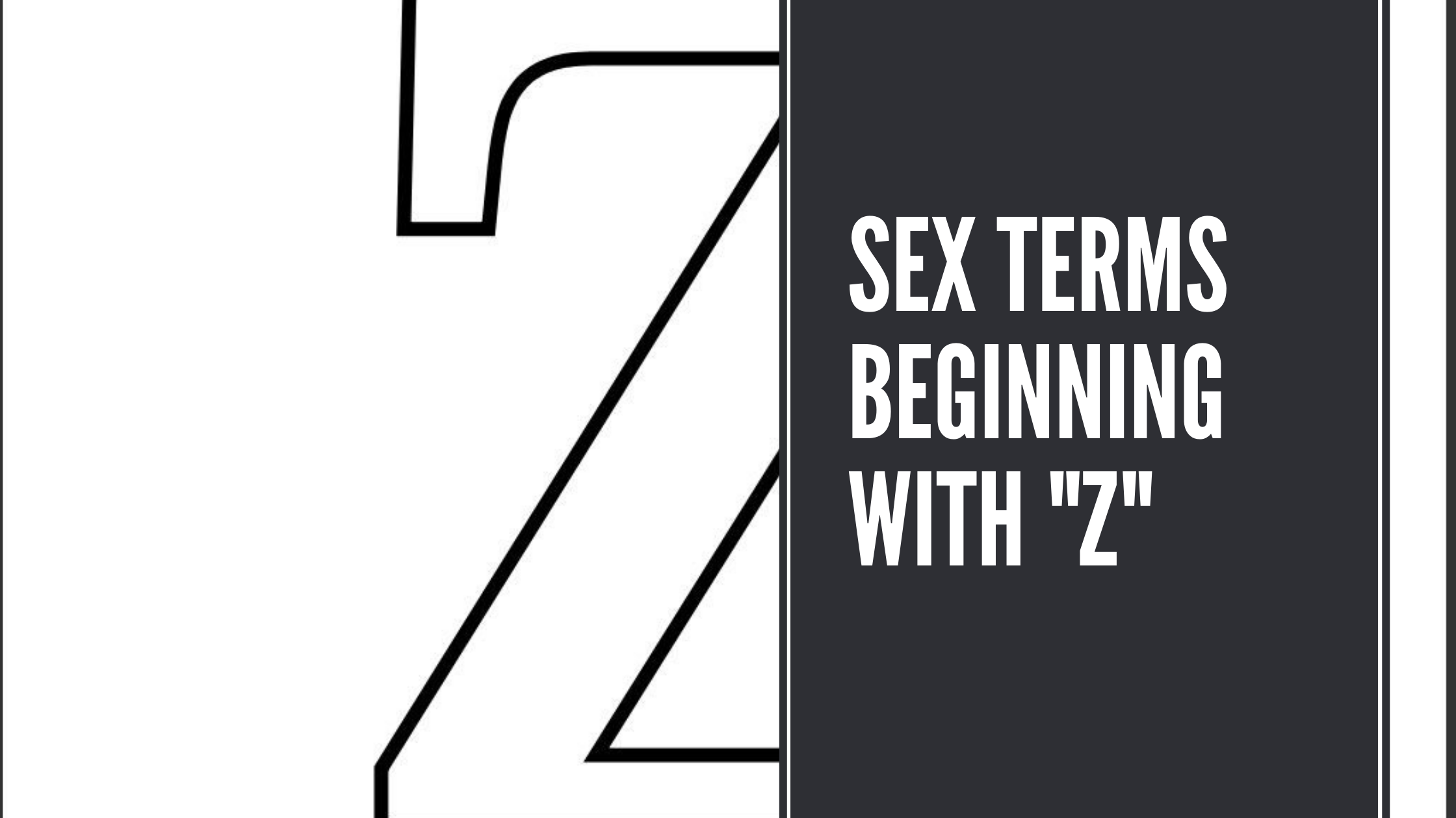 Sex Terms Beginning With Z